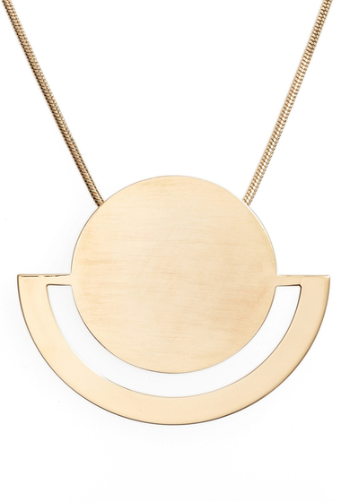 Bijuterii Femei Halogen Horizon Disc Pendant Necklace GOLD