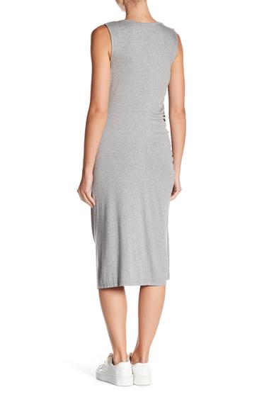 Imbracaminte Femei Bobeau Camari Cinched Knit Dress HGREY