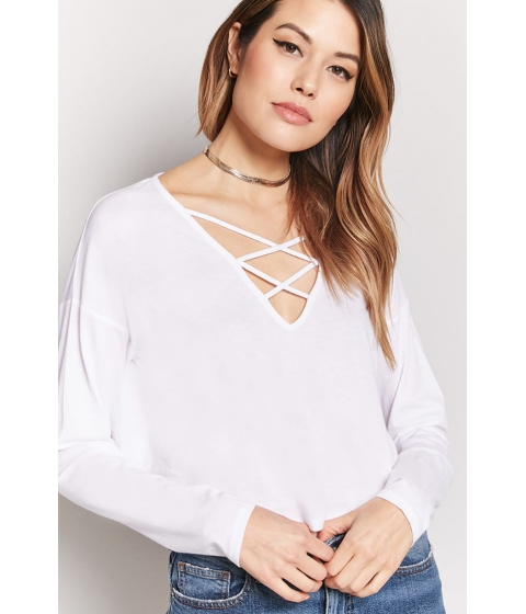 Imbracaminte Femei Forever21 Crisscross Knit Top WHITE