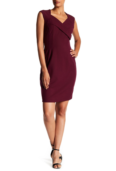 Imbracaminte Femei Ellen Tracy Bistretch Cap Sleeve Dress MERLOT