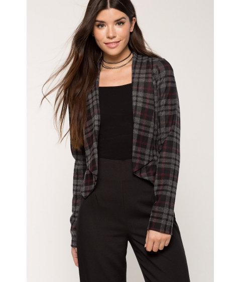 Imbracaminte Femei CheapChic Plaid Blazer Red Pattern