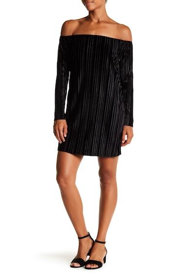 Imbracaminte Femei Romeo Juliet Couture Off-the-Shoulder Pleated Dress BLACK