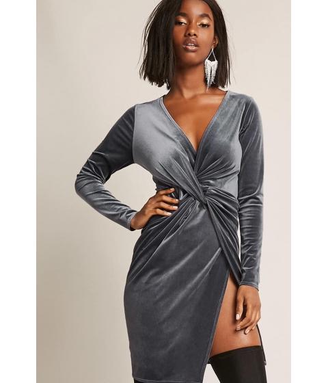 Imbracaminte Femei Forever21 Velvet Tulip Dress DARK GREY