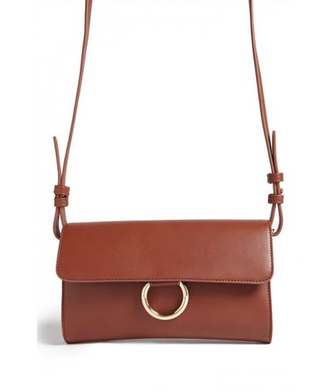 Genti Femei Forever21 O-Ring Crossbody Bag BROWN