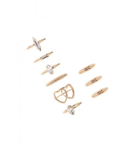 Bijuterii Femei Forever21 Faux Gemstone Ring Set GOLDCLEAR