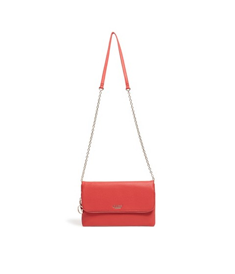 Genti Femei GUESS Gianna Foldover Clutch red