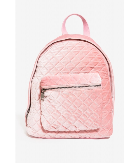 Genti Femei CheapChic Quilted Velvet Backpack Blush