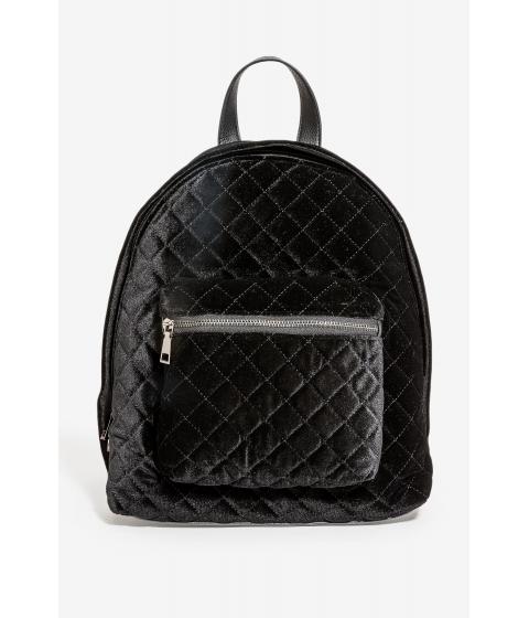 Genti Femei CheapChic Quilted Velvet Backpack Black