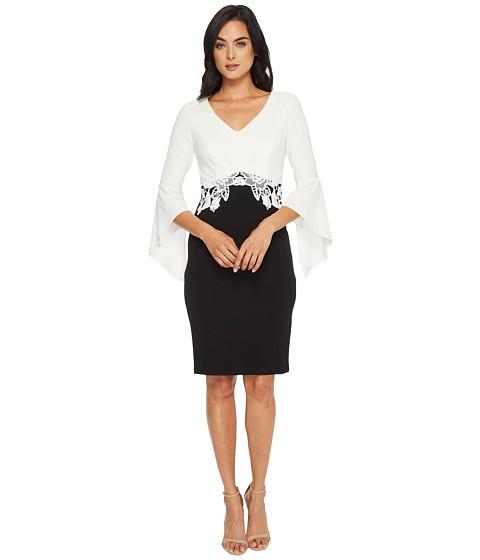 Imbracaminte Femei Sangria Bell Sleeve Dress w Crochet Applique BlackIvory