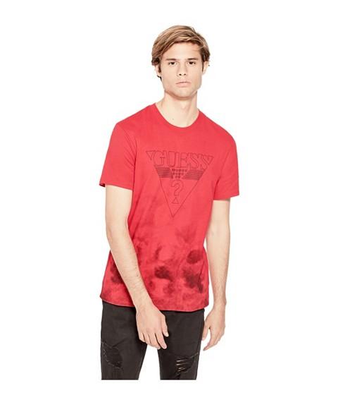 Imbracaminte Barbati GUESS Kev Tie-Dye Logo Tee varsity red