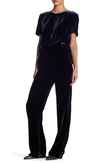 Imbracaminte Femei Vince Velvet Wide Leg Trousers BLACK
