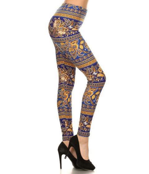 Imbracaminte Femei CheapChic Printed Pull-On Bodycon Leggings (One Size) Multicolor