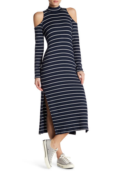 Imbracaminte Femei Splendid Striped Cold Shoulder Dress NAVY-WHITE