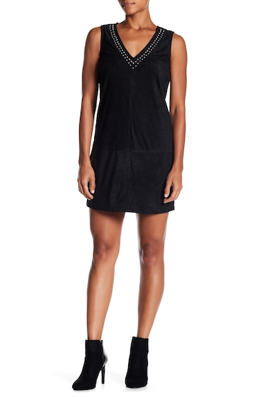 Imbracaminte Femei BB Dakota Sleeveless Deep V-Neck Studded Velvet Dress BLACK