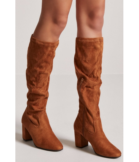 Incaltaminte Femei Forever21 Faux Suede Knee-High Boots TAN