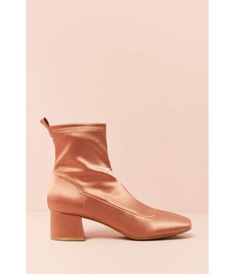 Incaltaminte Femei Forever21 Satin Block-Heel Ankle Boots ROSE
