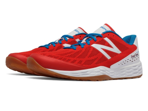 Incaltaminte Barbati New Balance Fresh Foam 80v3 Trainer Red with White