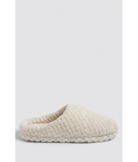 Incaltaminte Femei Forever21 Quilted Faux Fur Slippers CREAM