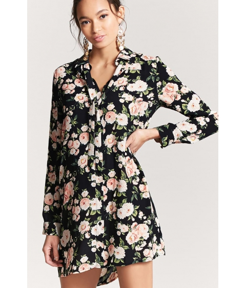 Imbracaminte Femei Forever21 Floral Shirt Dress BLACKBLUSH