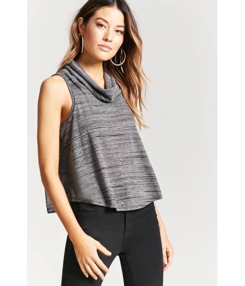 Imbracaminte Femei Forever21 Cowl Neck Swing Top CHARCOAL