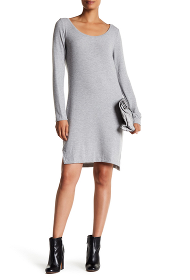 Imbracaminte Femei H By Bordeaux Brushed Hacci Long Sleeve Dress LT HT GREY