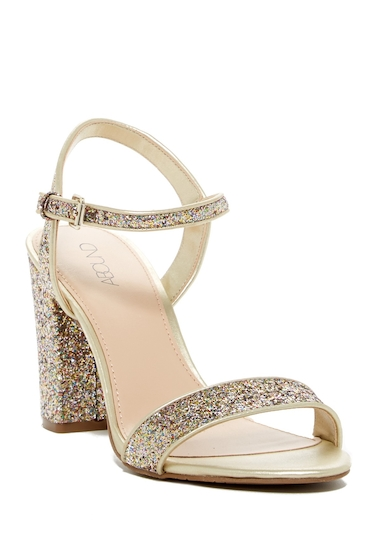Incaltaminte Femei Abound Steph Glitter Block Heel Sandal GOLD GLITTER