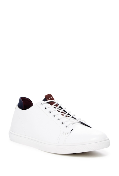 Incaltaminte Barbati Kenneth Cole Reaction Faux Leather Sneaker WHITE