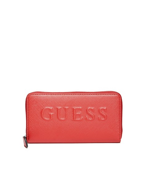 Accesorii Femei GUESS Laken Zip-Around Wallet red