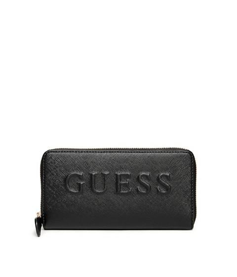 Accesorii Femei GUESS Laken Zip-Around Wallet black