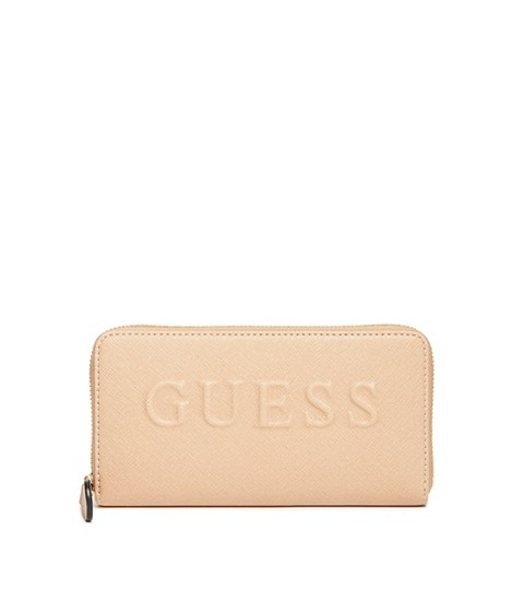 Accesorii Femei GUESS Laken Zip-Around Wallet tan