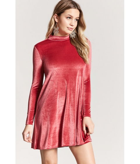 Imbracaminte Femei Forever21 Velvet Shift Dress RED