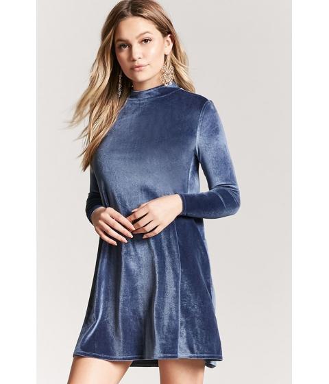 Imbracaminte Femei Forever21 Velvet Shift Dress INDIGO