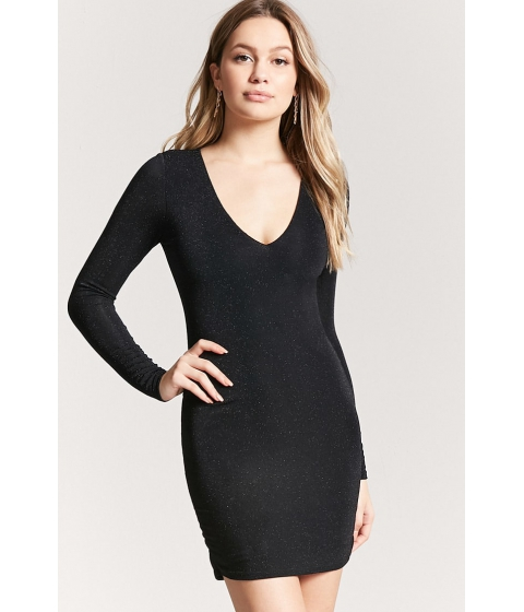 Imbracaminte Femei Forever21 Metallic Knit Dress BLACKBLACK