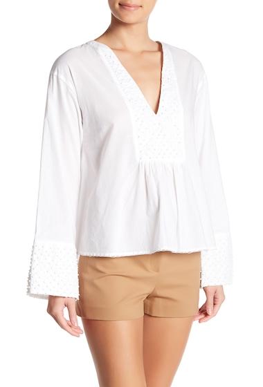 Imbracaminte Femei Theory Matara Dot Embroidered Blouse WHITE