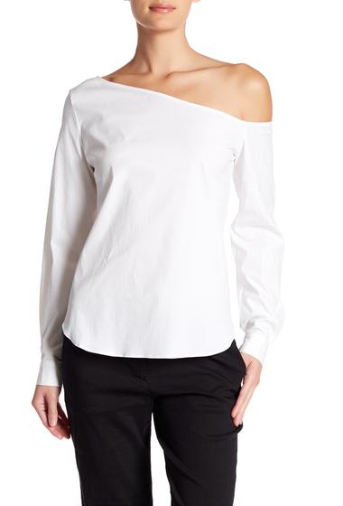 Imbracaminte Femei Theory Ulrika Off-the-Shoulder Shirt WHITE