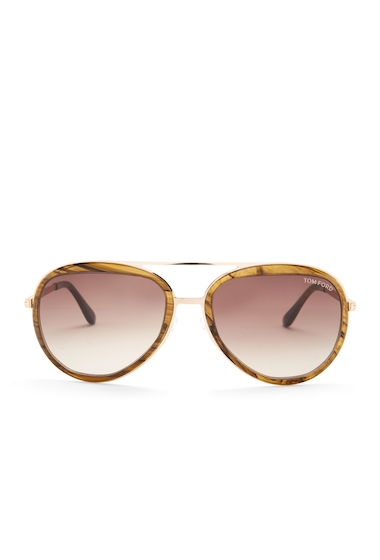 Ochelari Barbati Tom Ford Womens Aviator Sunglasses YLWO-ROVXG