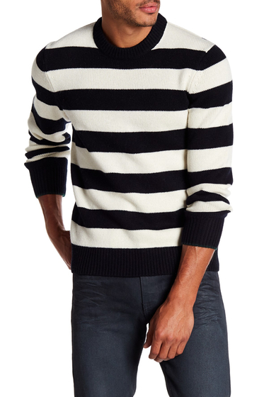 Imbracaminte Barbati Rag Bone Shane Wool Sweater BLACK-WHITE