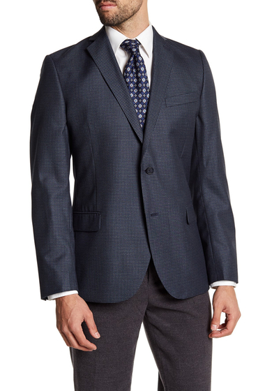 Imbracaminte Barbati 14th Union Navy Check Two Button Notch Lapel Jacket NAVY