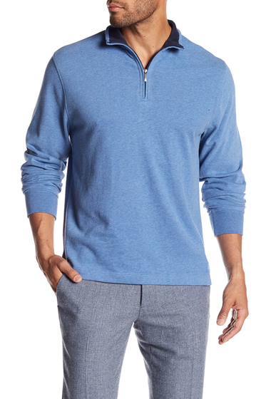 Imbracaminte Barbati Brooks Brothers Half Zip Sweater MEDBLUHTHR