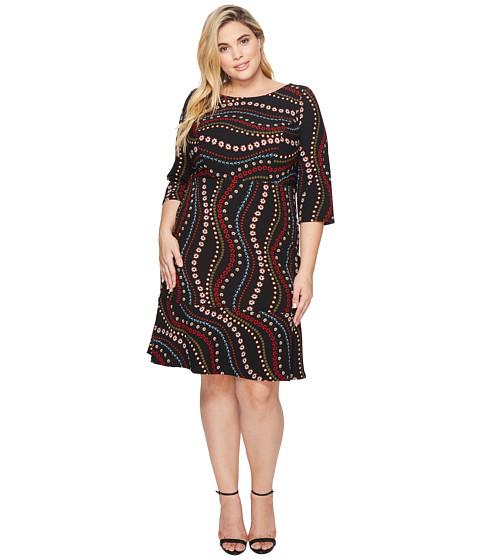 Imbracaminte Femei Sangria Plus Size Printed 34 Sleeve Dress Multi