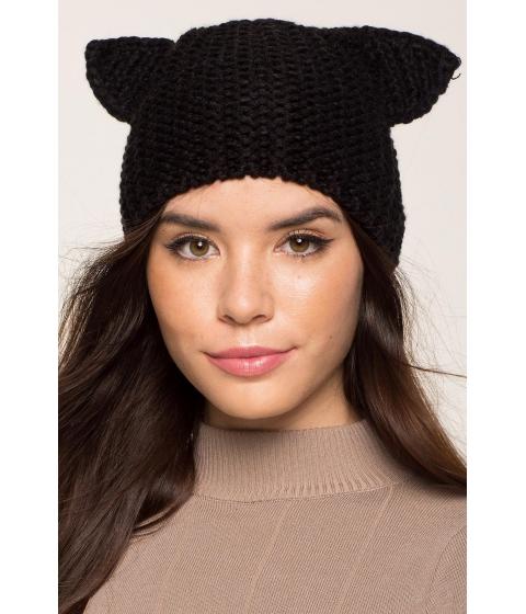 Accesorii Femei CheapChic Cat Ear Knit Beanie Black