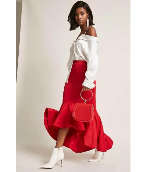 Imbracaminte Femei Forever21 Kikiriki Ruffle Mermaid Skirt RED