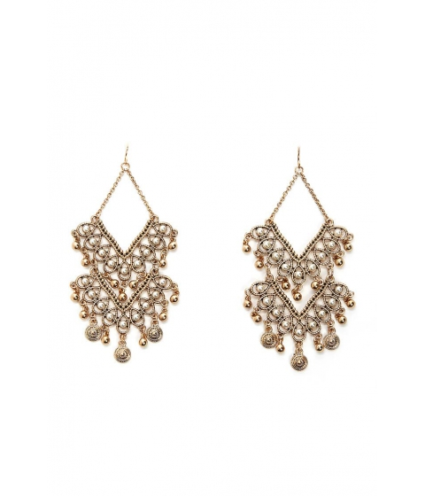 Bijuterii Femei Forever21 Faux Pearl Chandelier Earrings GOLDCREAM