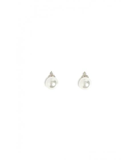Bijuterii Femei Forever21 Faux Pearl Stud Earrings SILVERWHITE