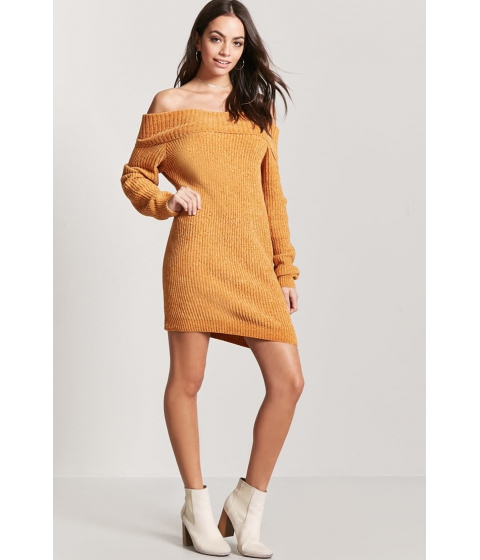 Imbracaminte Femei Forever21 Chenille Off-the-Shoulder Dress AMBER