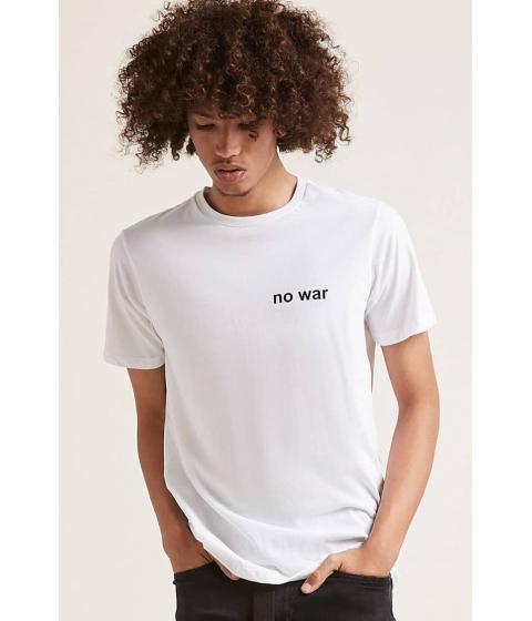 Imbracaminte Barbati Forever21 No War Graphic Tee WHITE