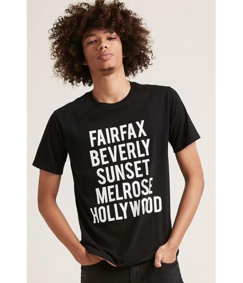 Imbracaminte Barbati Forever21 Fairfax Graphic Tee BLACK