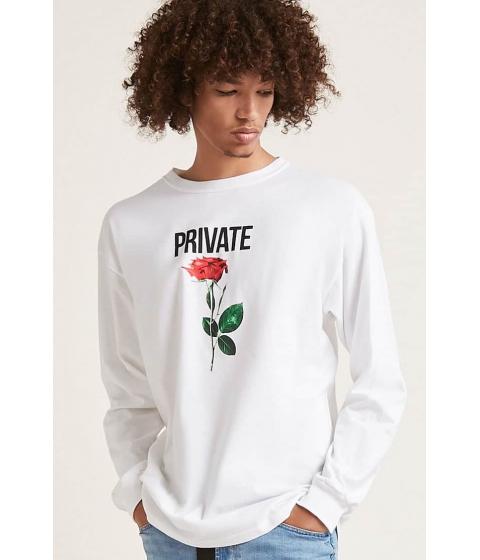 Imbracaminte Barbati Forever21 Private Rose Graphic Tee WHITE