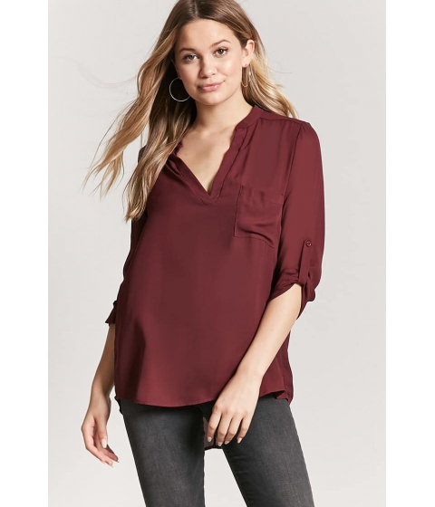 Imbracaminte Femei Forever21 High-Low Top WINE