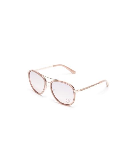 Ochelari Femei GUESS Rhinestone G Aviator Sunglasses rose gold
